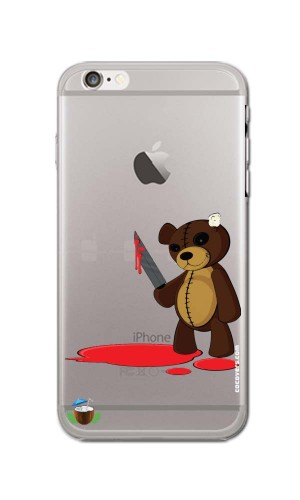 iPhone 6/6S Psikopat Teddy Desenli Kapak
